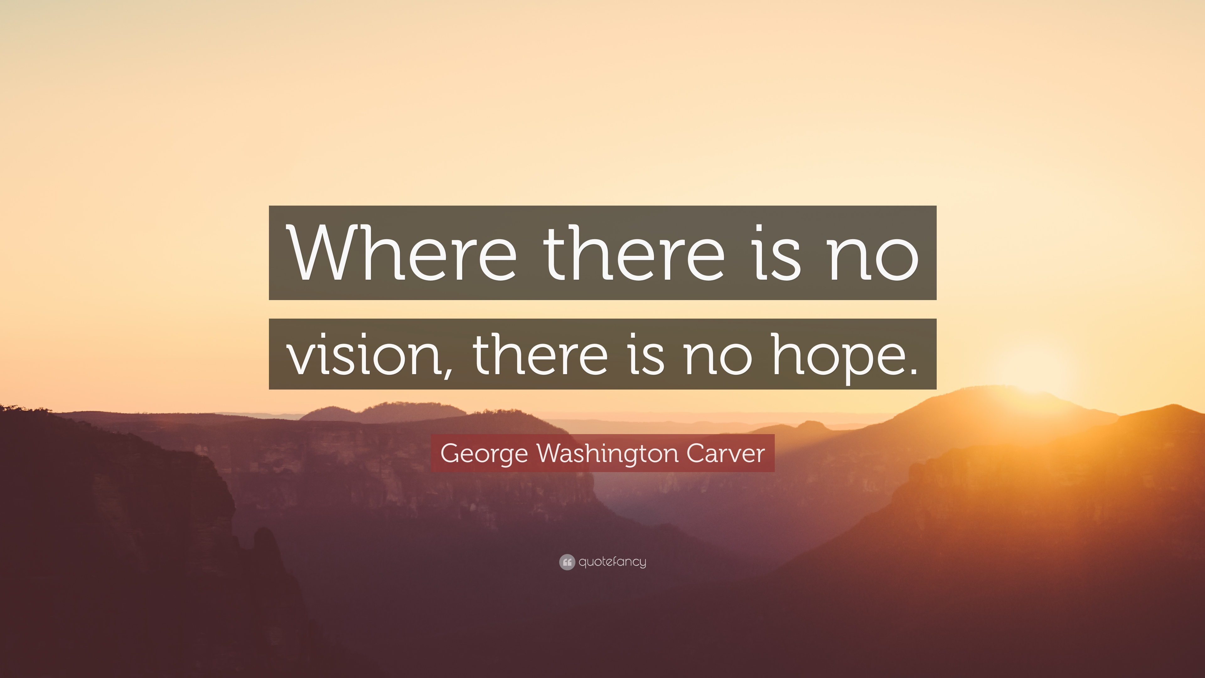 Good Morning Wallpaper With Motivational Quotes George Washington Carver Quote Where There Is No Vision