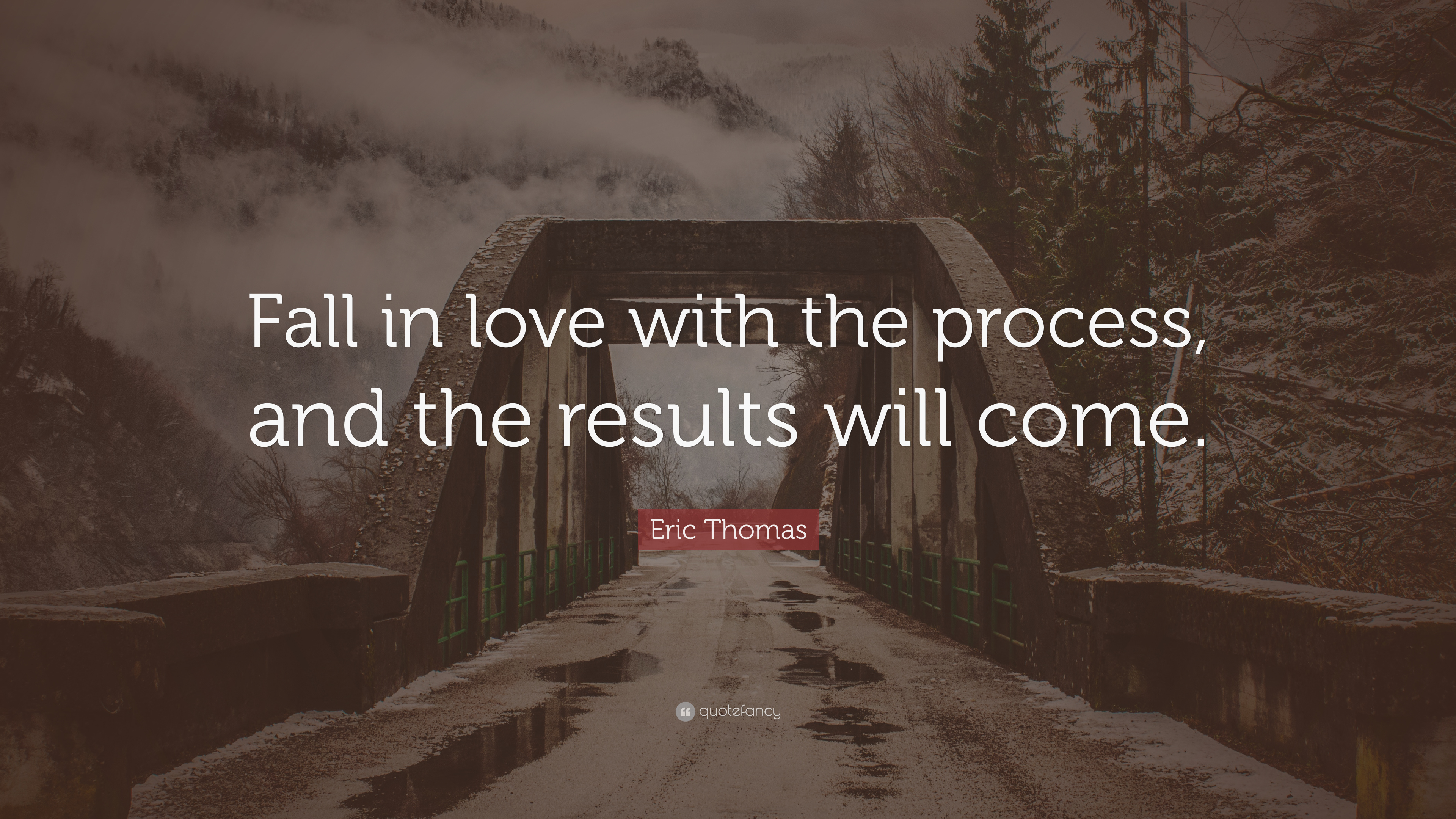 Don T Fall In Love Wallpaper Eric Thomas Quote Fall In Love With The Process And The