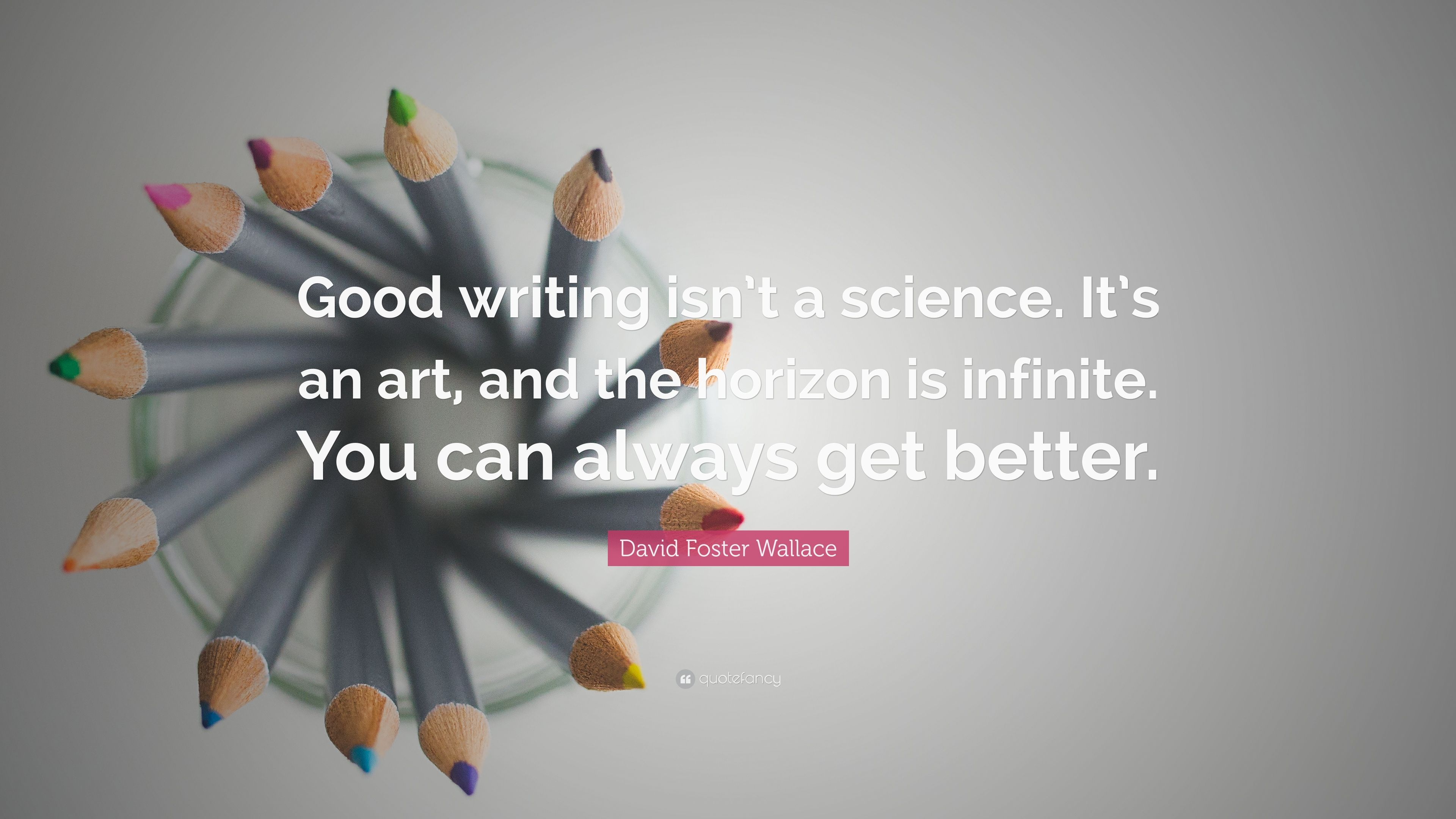 David Foster Wallace Quotes Wallpaper David Foster Wallace Quote Good Writing Isn T A Science