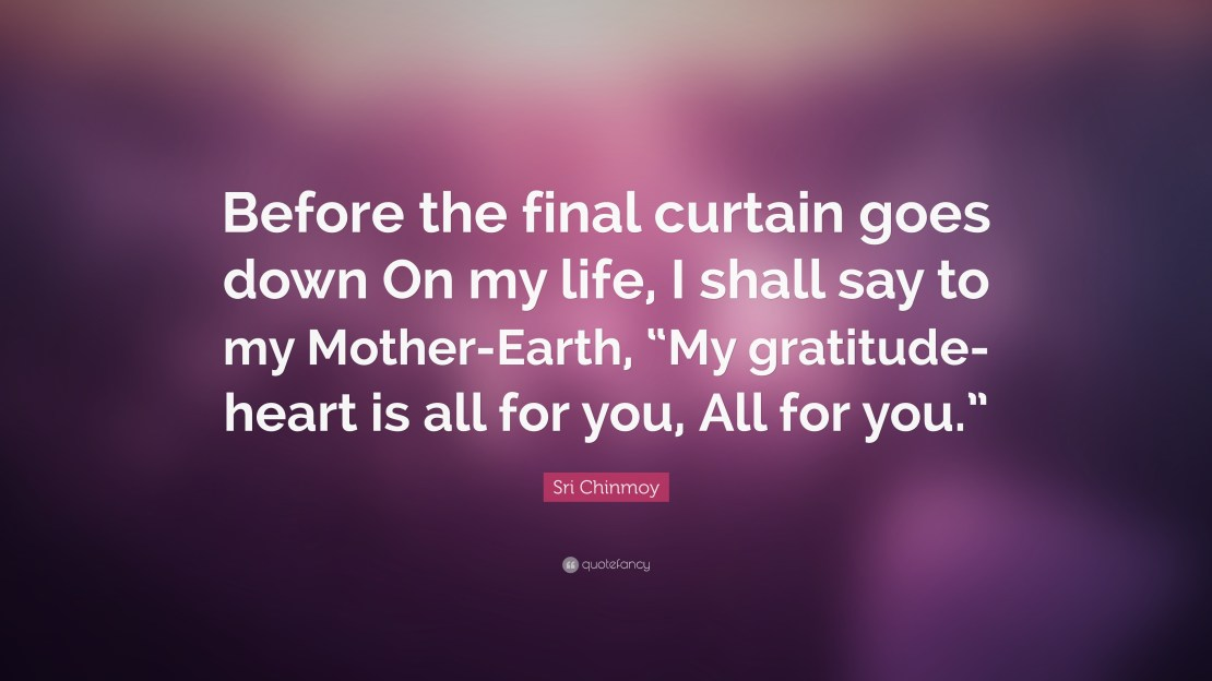 Sri Chinmoy Quote Before The Final Curtain Goes Down On My Life I