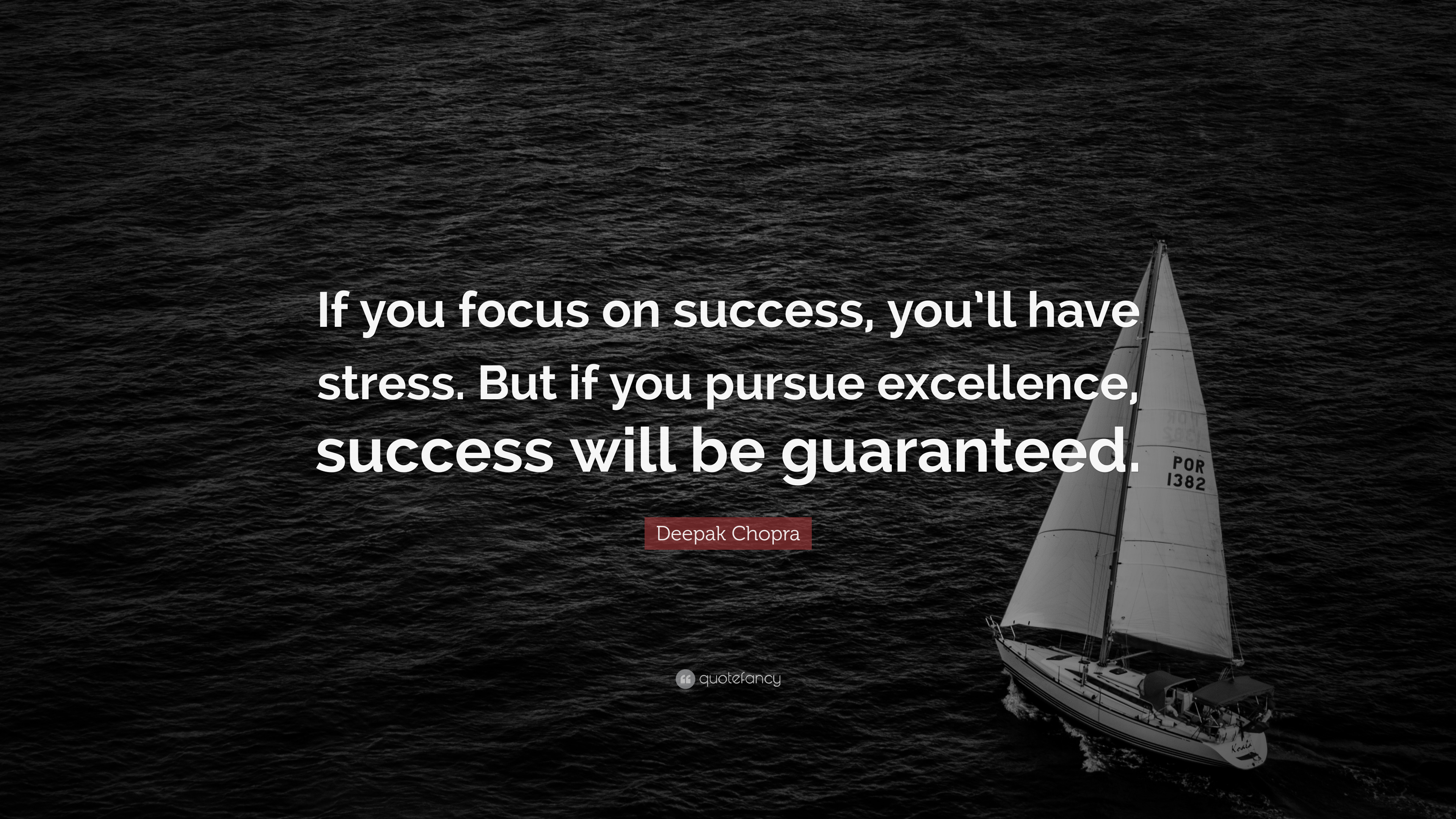 D Desktop Wallpapers Deepak Chopra Quote If You Focus On Success You Ll Have