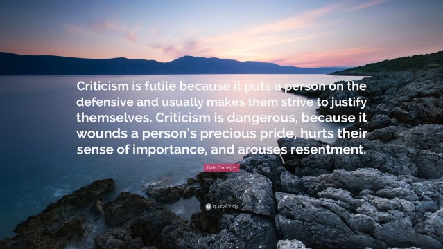 Image result for criticism is futile quote