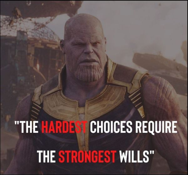 thanos quotes strongest will