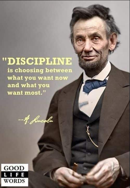 discipline quotes abraham lincoln