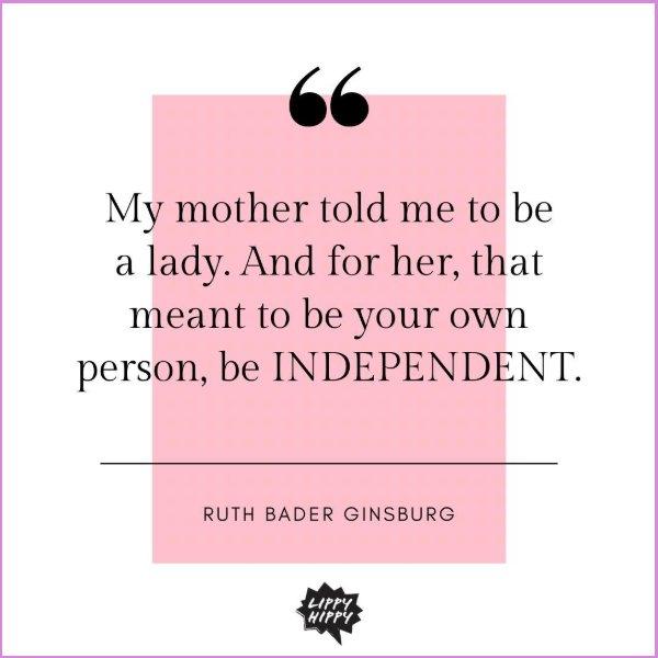 ruth bader ginsburg quotes mother
