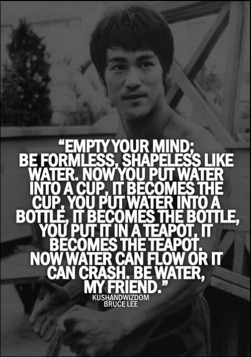 bruce lee quotes on mind