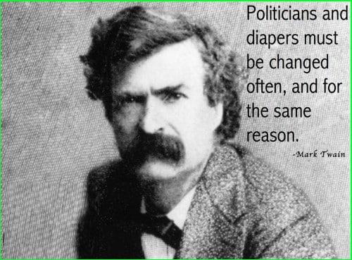 mark twain quotes politics diapers