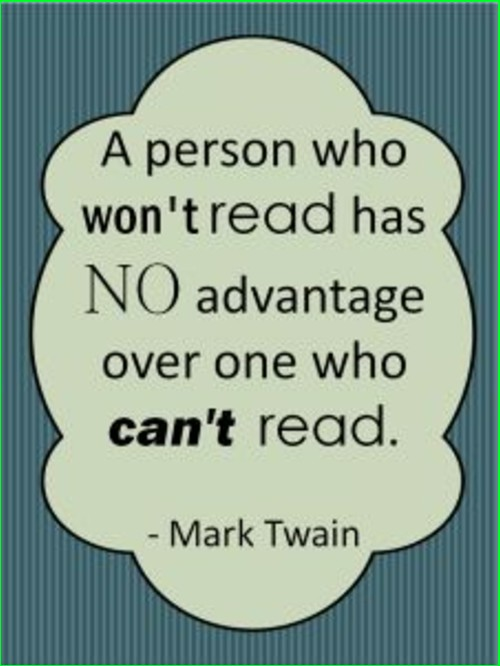 mark twain quote reading