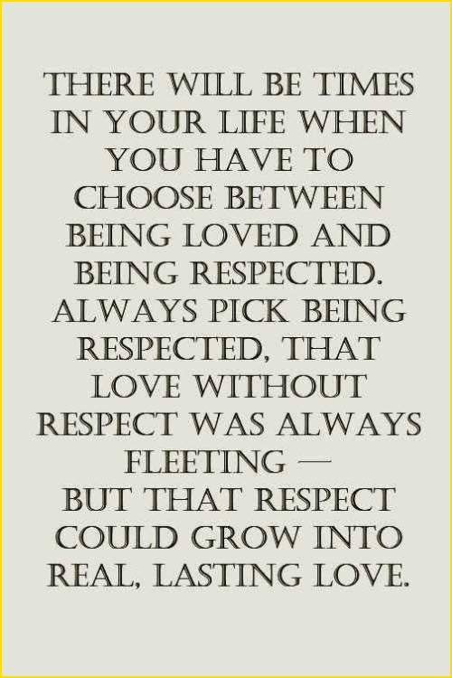 respect is key quotes