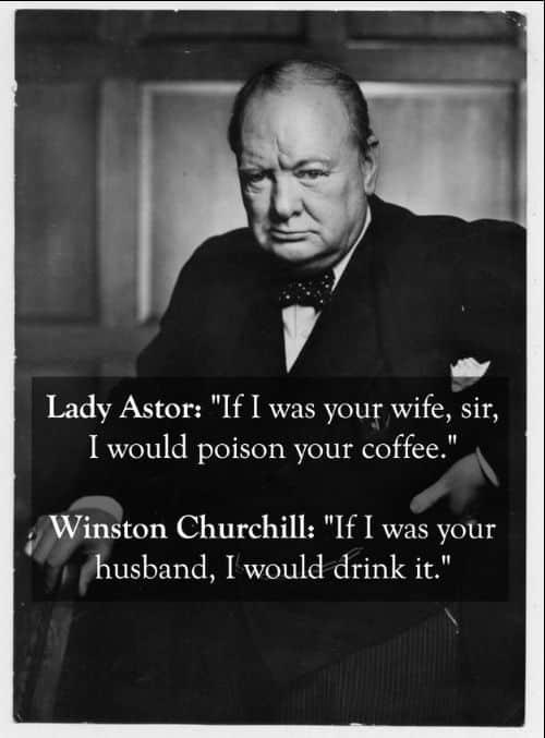 winston churchill drinking quotes