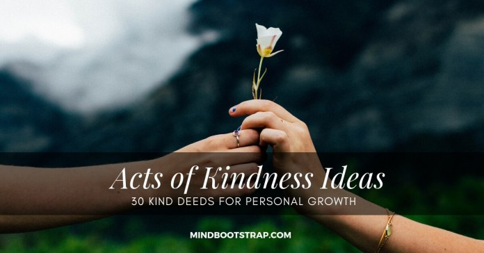 Thirty Kind Deeds for Personal Growth
