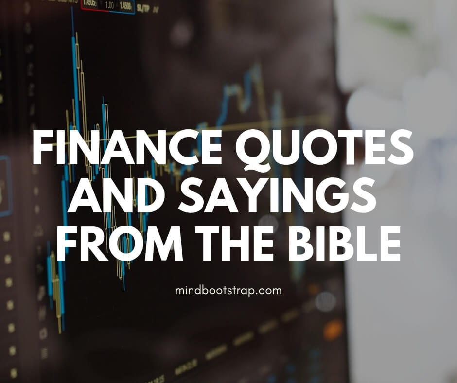 Finance Quotes and Sayings from the Bible