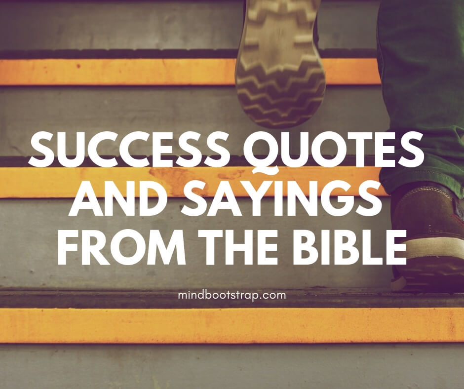 Success Quotes and Sayings from the Bible
