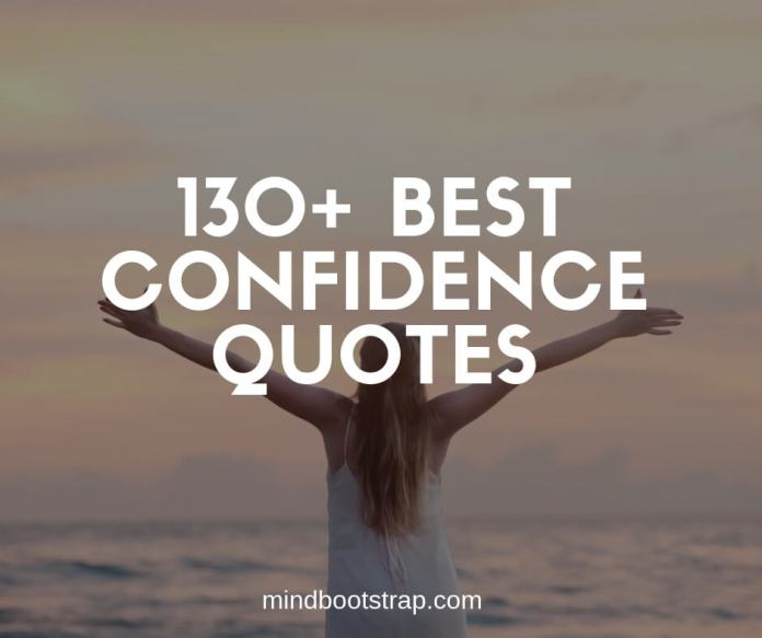 best confidence quotes and sayings