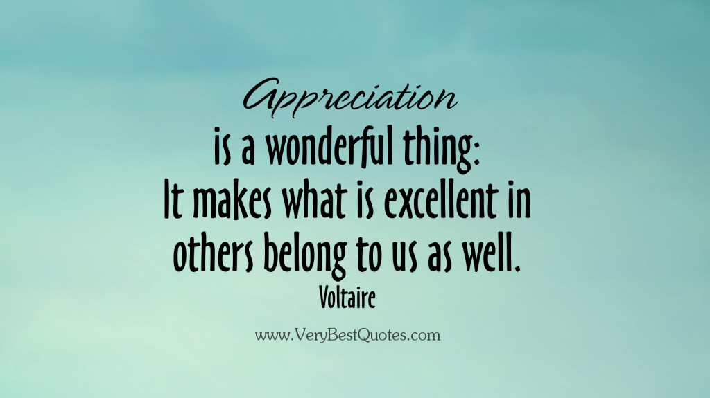 Appreciation mindset quotation