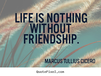 Friendship quote  Life is nothing without friendship
