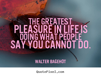 Walter Bagehot picture quote  The greatest pleasure in