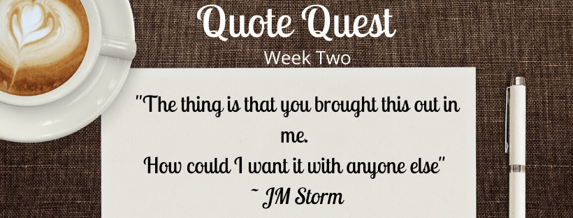 Titled image for week two for Quote Quest