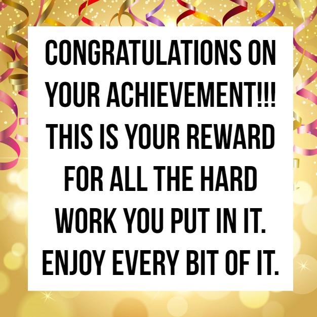 Congratulations Quote On Achievement 8 QuoteReel