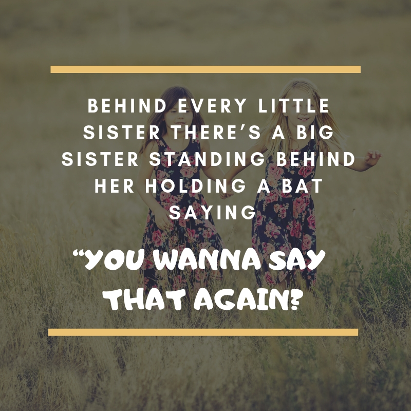 Funny Sister Quote 37 QuoteReel