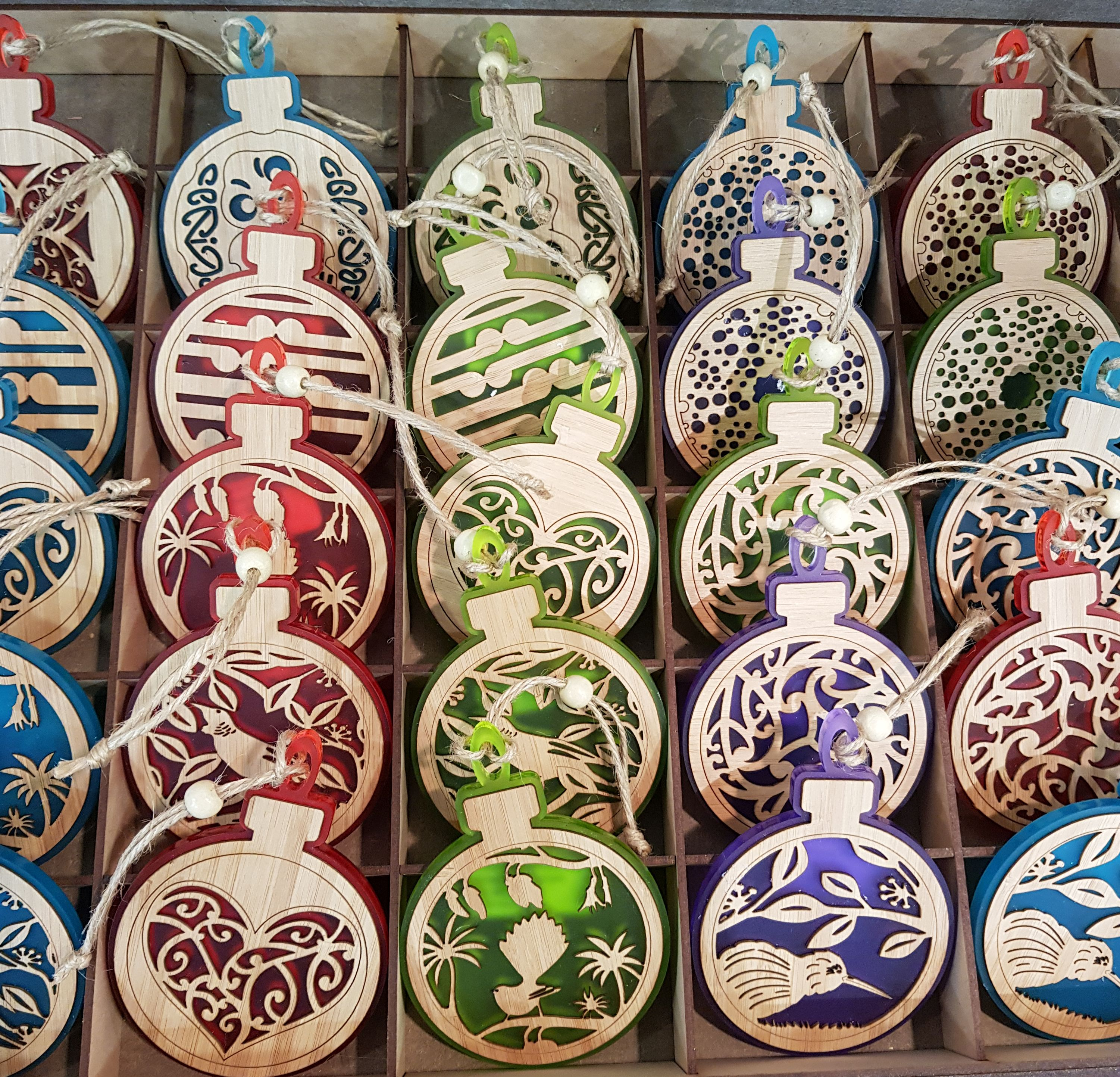 Acrylic And Bamboo Christmas Decorations Baubles Nz Made All About Promo