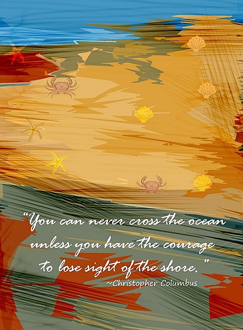 Crossing The Ocean Quote Picture