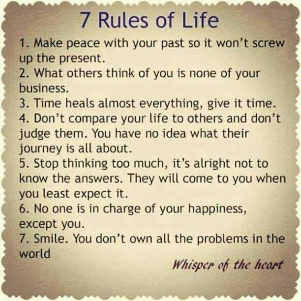 7 Rules Of Life Quote Captivating 7 Rules Of Life Quote 13 Quotesbae