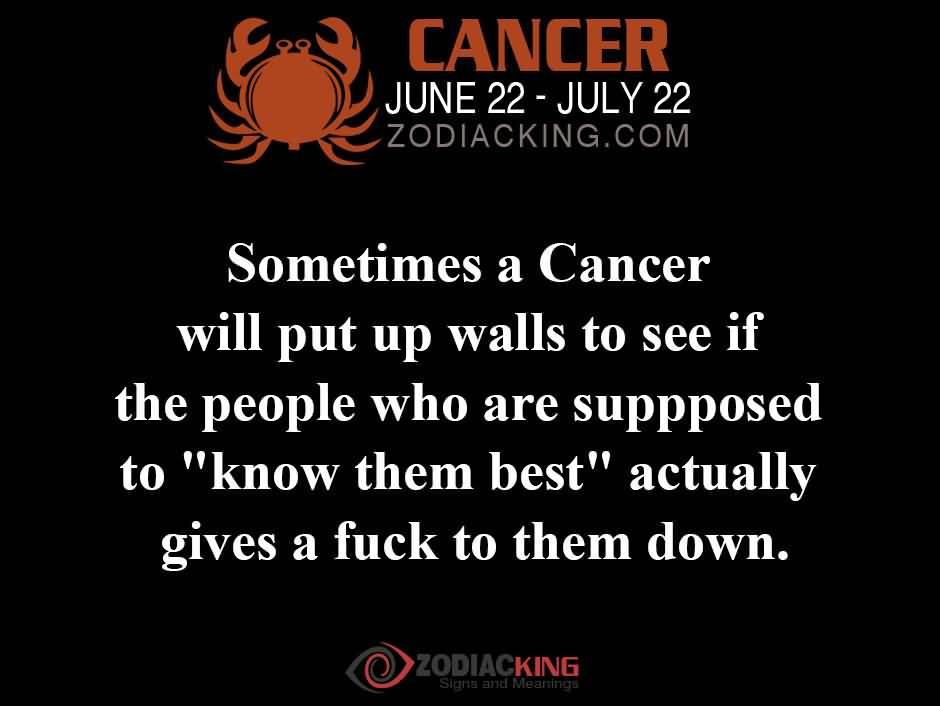 Cancer Sign Quotes Pleasing Cancer Sign Quotes Meme Image 18  Quotesbae