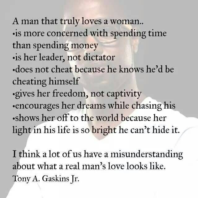 What A Man Does When He Loves A Woman