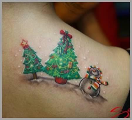 Christmas Tattoo Design Ideas Image Picture Photo 14