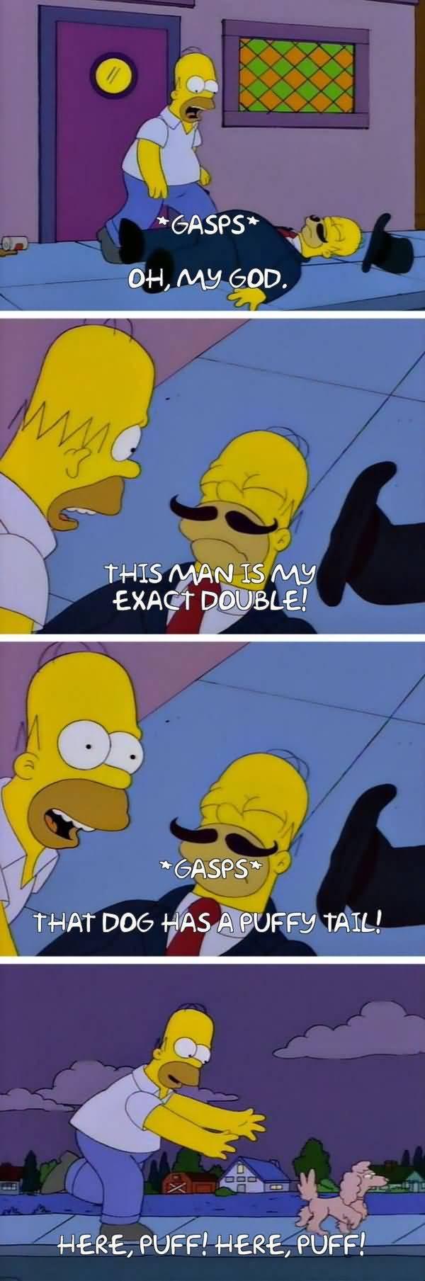 Funniest fun homer simpson salivating meme image