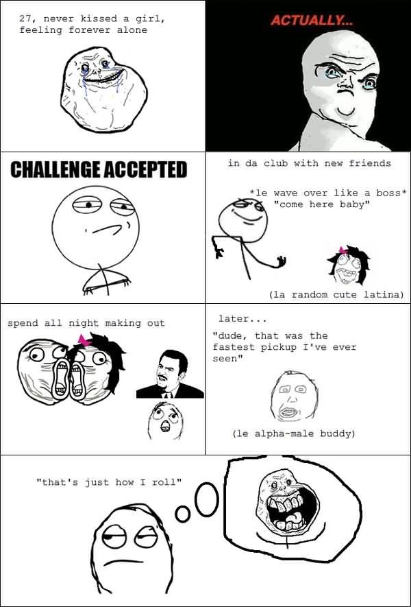 Funny Challenge Accepted Comics Jokes