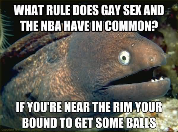 Funny What Rule Does Gay Sex and the NBA Have in Common graphic