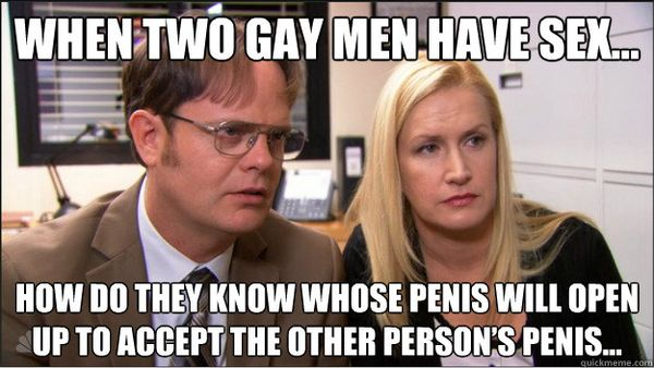 Funny When Two Gay Men Have Sex meme