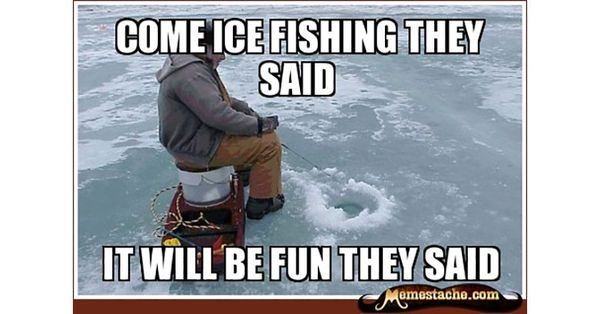 Funny ice fishing meme joke | QuotesBae Funny Ice Fishing Jokes