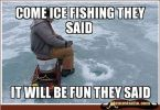 Funny ice fishing meme joke