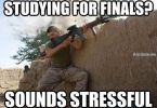 Funny studying for finals meme photo