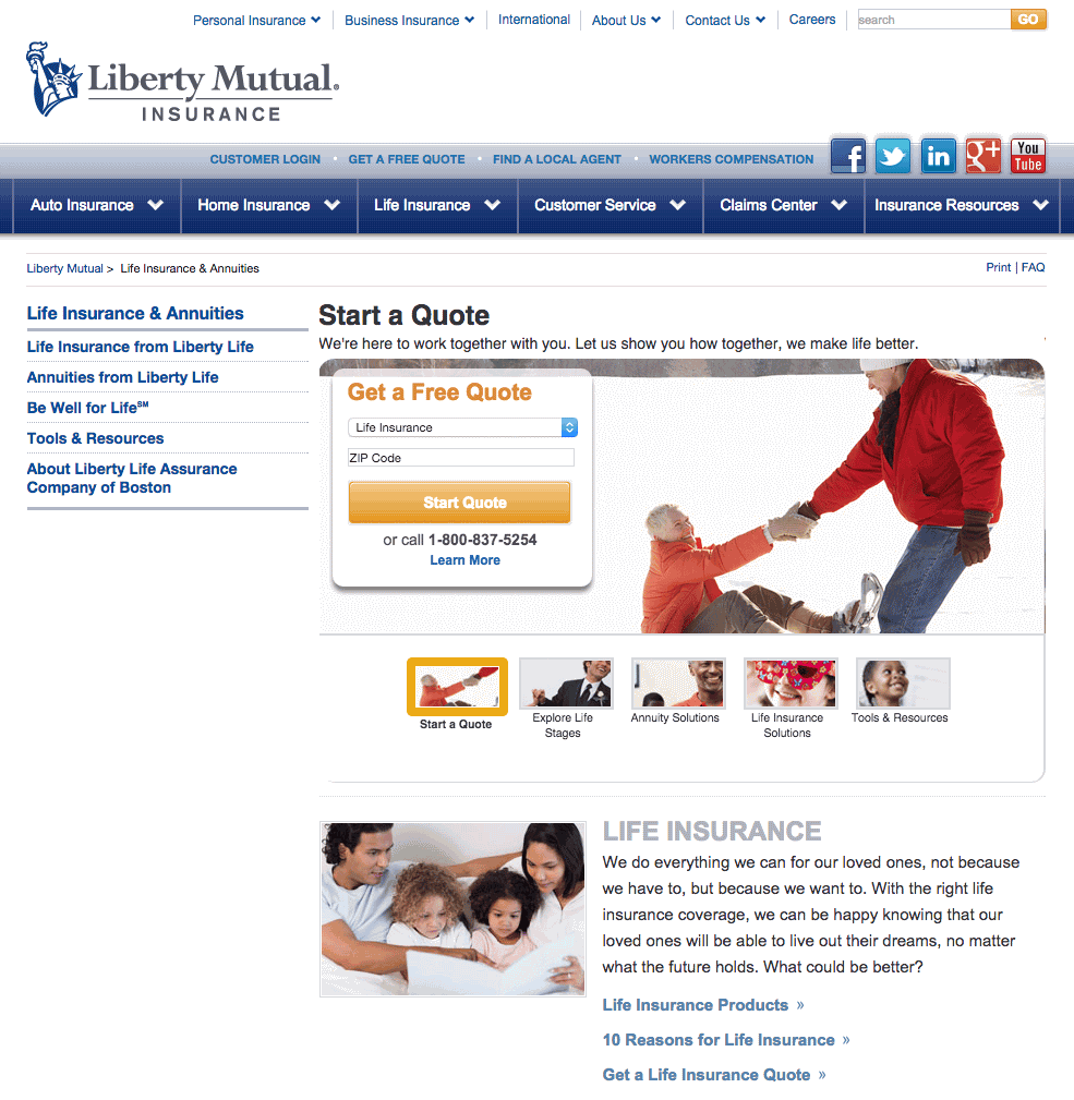 Liberty Mutual Life Insurance Quotes Unique Liberty Mutual Life Insurance Quote 02  Quotesbae