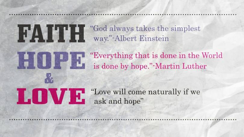Love Faith Hope Quotes Impressive 20 Love Faith Hope Quotes With Inspiring Photos  Quotesbae