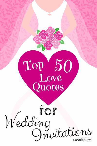 Love Quotes Wedding Invitation 15