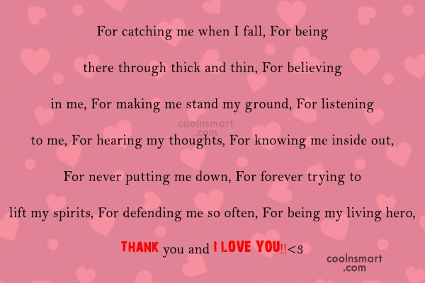 Love You Thank You Quotes Endearing Love You Thank You Quotes 02  Quotesbae