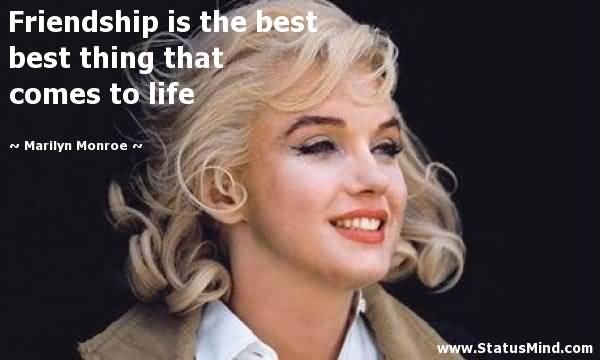 Marilyn Monroe Quotes About Friendship Entrancing Marilyn Monroe Quotes About Friendship 14  Quotesbae