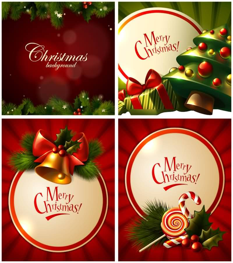 Merry Christmas Cards Vector Image Picture Photo Wallpaper