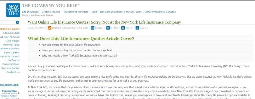 New York Life Insurance Quotes Entrancing 20 New York Life Insurance Quotes And Pictures  Quotesbae