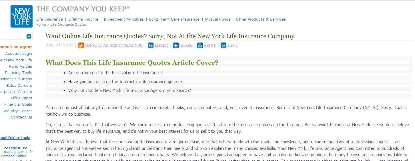 New York Life Insurance Quotes Amazing 20 New York Life Insurance Quotes  And Pictures Quotesbae