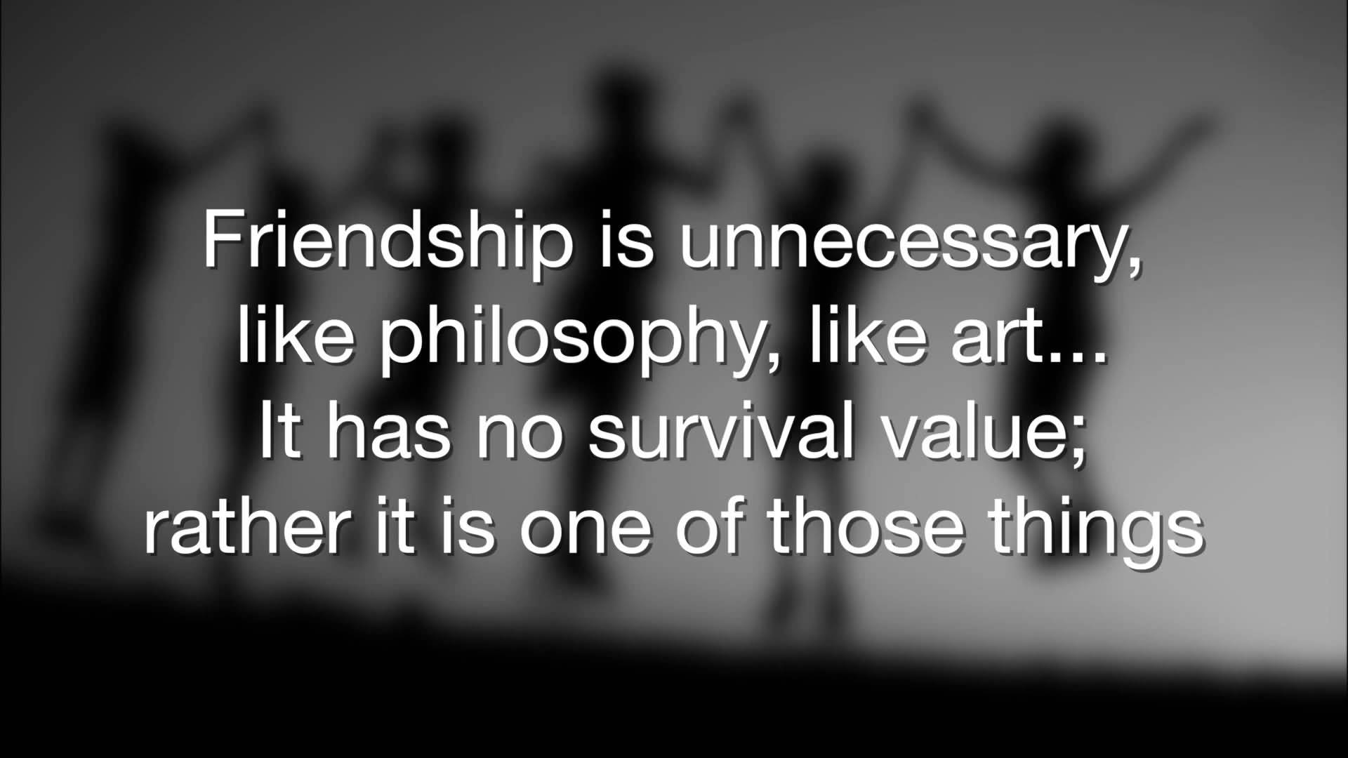 Quote About Friendships 20 Philosophical Quotes About Friendship Images & Photos  Quotesbae