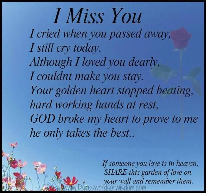 Poems For A Loved One In Heaven