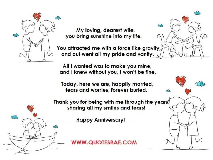 Top 10 Best Anniversary Poems For Her (WIFE) Image
