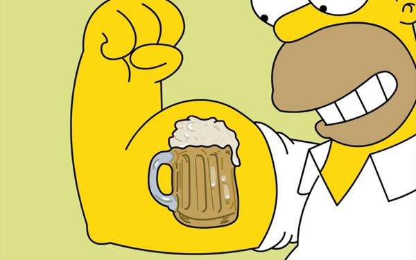 Very Funny good homer simpson drooling pic jokes