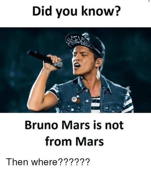 Bruno Mars Meme Funny Image Photo Joke 10